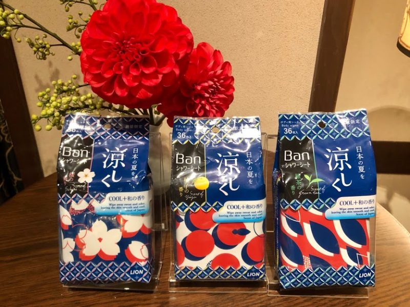 ライオン Ban 爽感さっぱりシャワーシート クールタイプ 2020年4月1日数量限定発売 桜の香り、柚子の香り、緑茶の香り